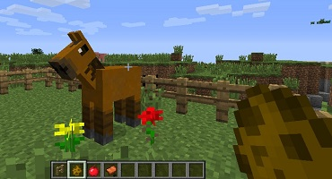 Image: Wild horse and spawn egg